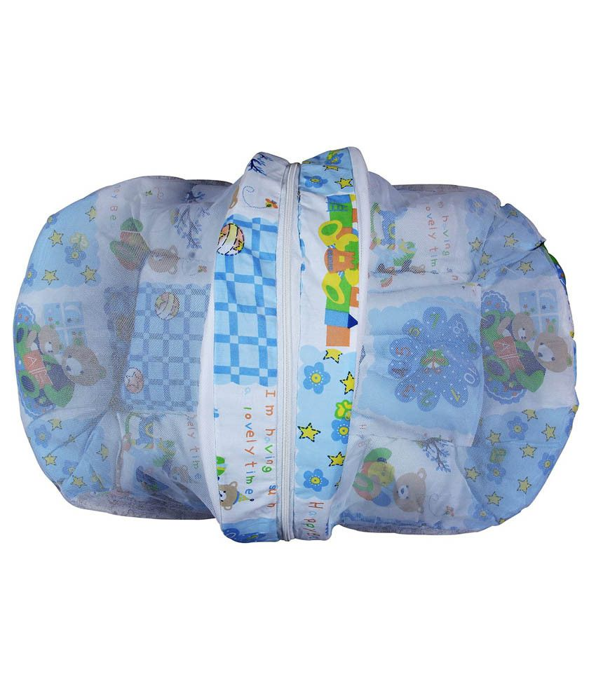 Cosy Blue Baby Bed With Net
