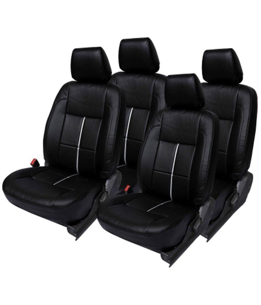 Elaxa Black Leatherite Car Seat Cover For Maruti Alto 800