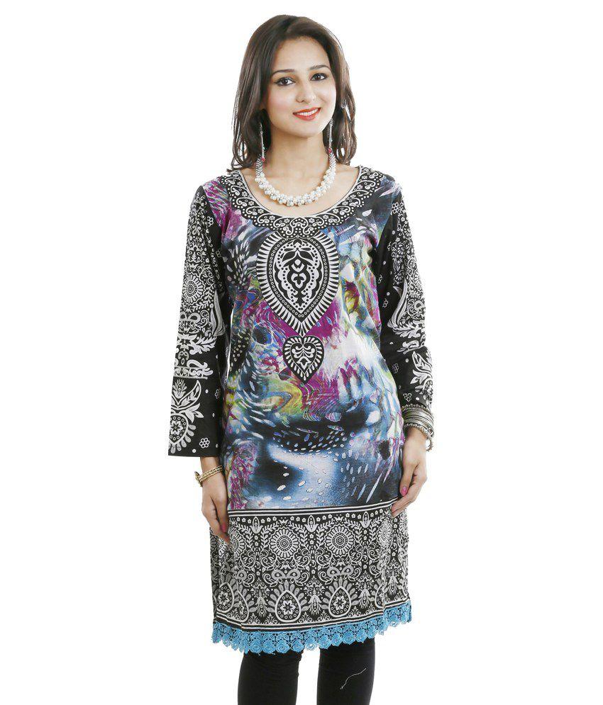 Vandy crafts.com Multi Cotton Kurti