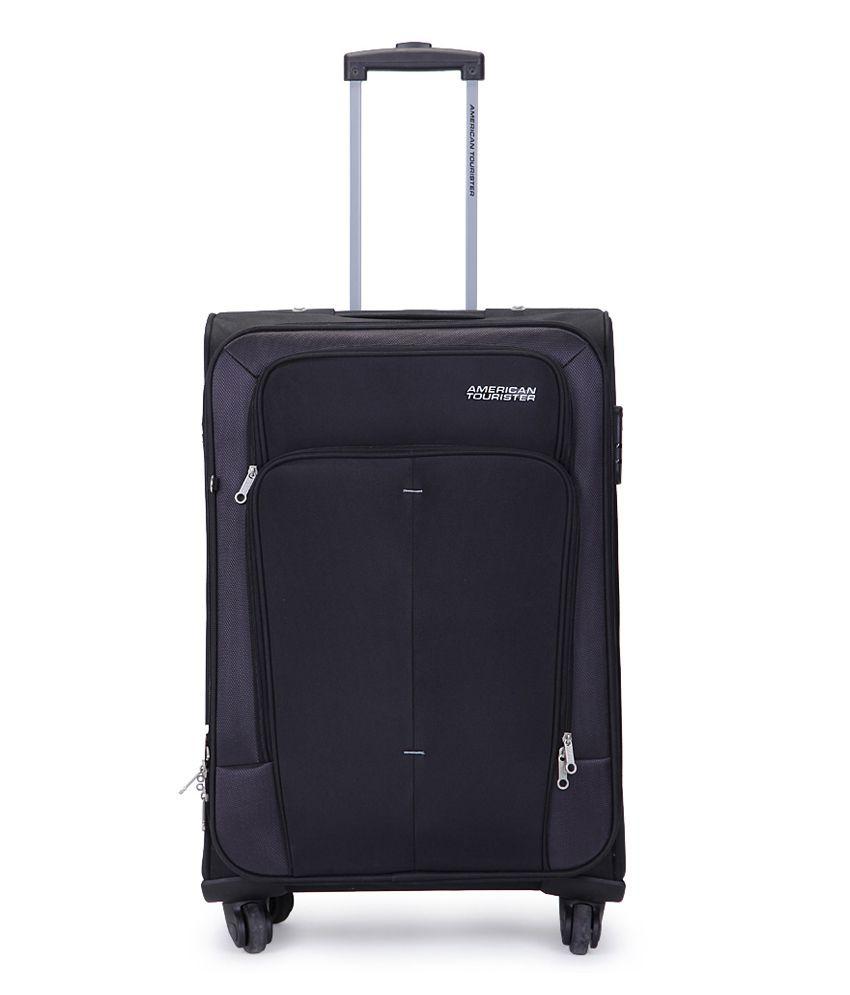 e43820f19 American Tourister Medium (Between 61 Cm-69Cm) 4 Wheel Soft Black Crete Luggage  Trolley - Buy American Tourister Medium (Between 61 Cm-69Cm) 4 Wheel Soft  ...