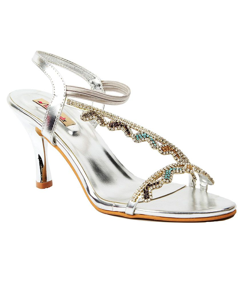 Foot Candy Silver Sandals