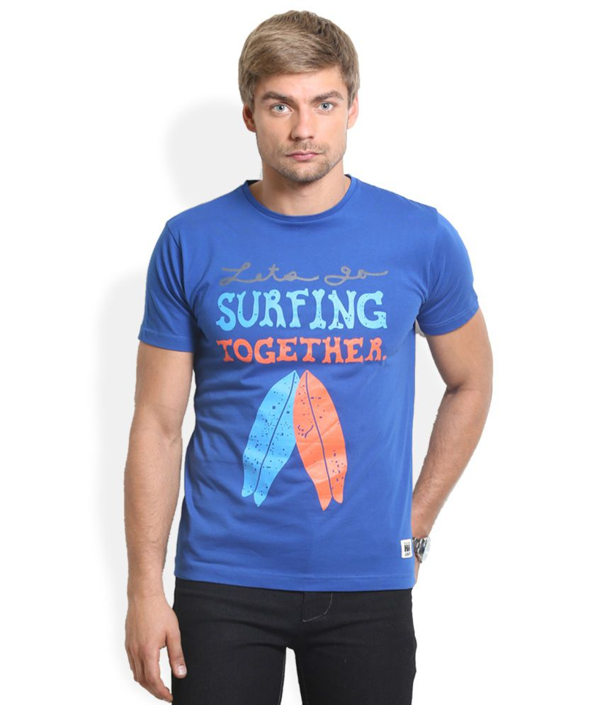 HW Blue Cotton T-Shirt