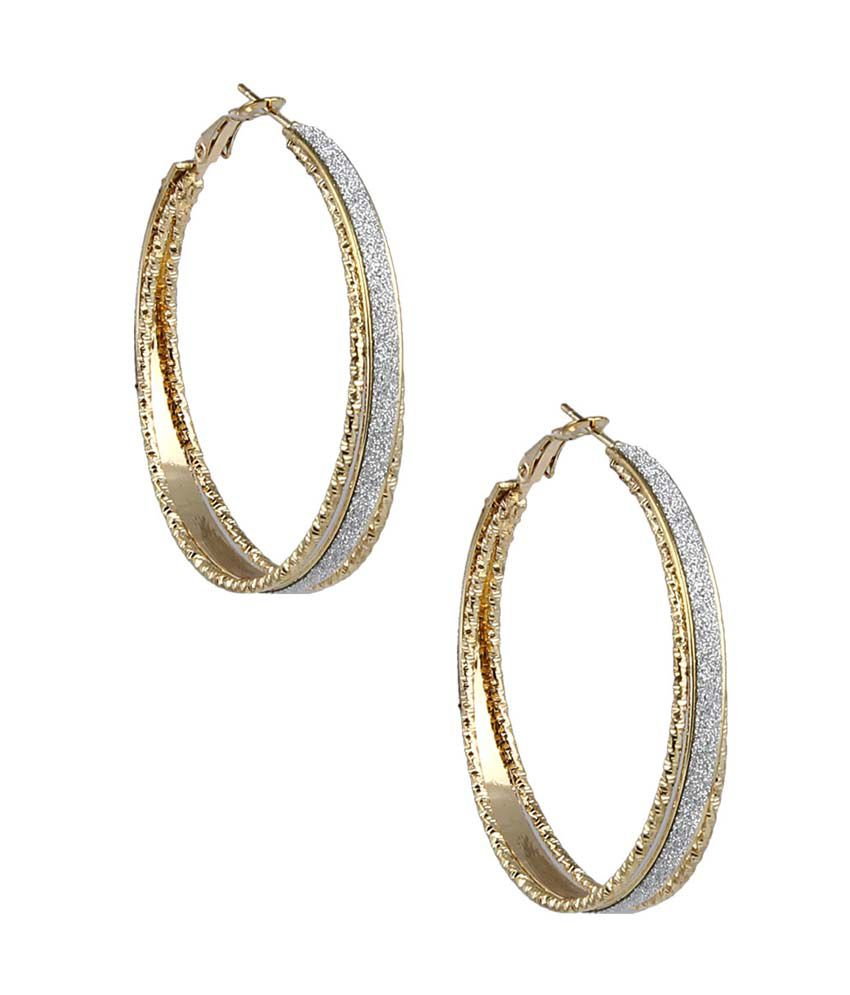 JEWELIZER Bohemian Gold Plated Contemporary Dangle Earrings for Women