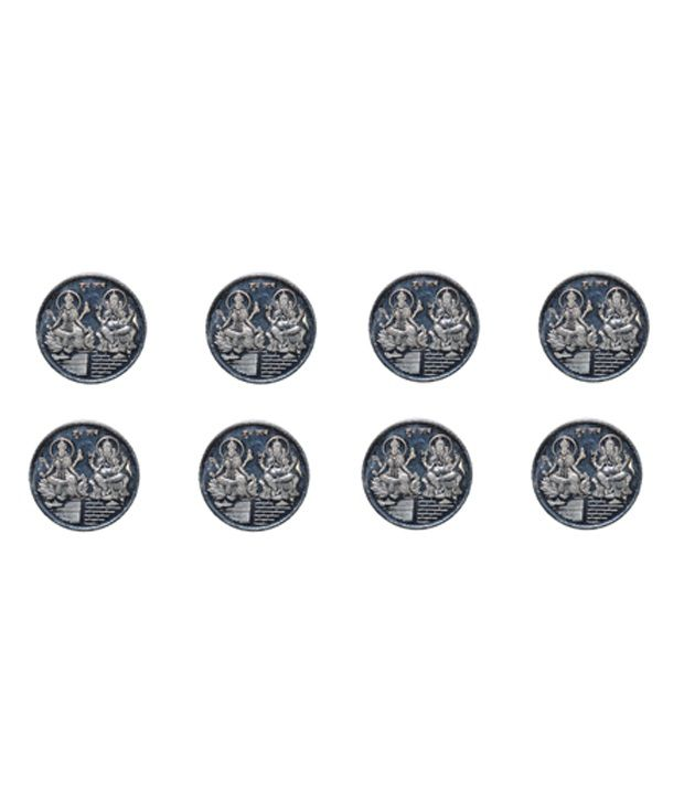 kataria jewellers lakshmi ganesha 10 gm silver coins with diwali gift box pack of 8 available at. Black Bedroom Furniture Sets. Home Design Ideas