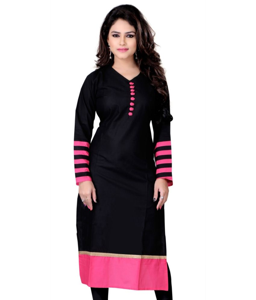 Meetu Black Cotton Kurti Buy Meetu Black Cotton Kurti Online At Best Prices In India On Snapdeal