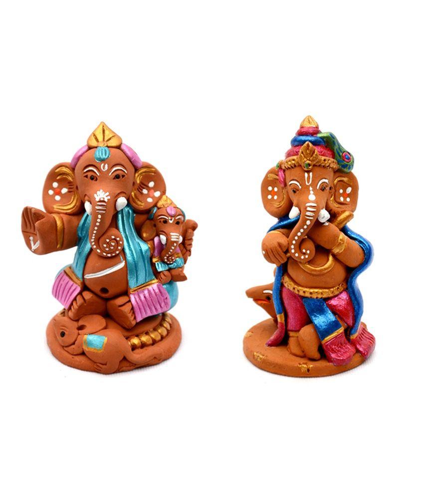 ExclusiveLane Ganesha Terracotta Idol