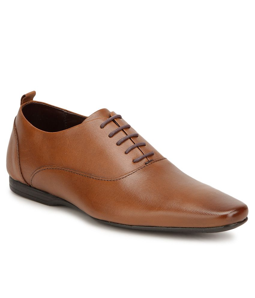 da9319253b6b Franco Leone Brown Formal Shoes Price in India- Buy Franco Leone Brown  Formal Shoes Online at Snapdeal