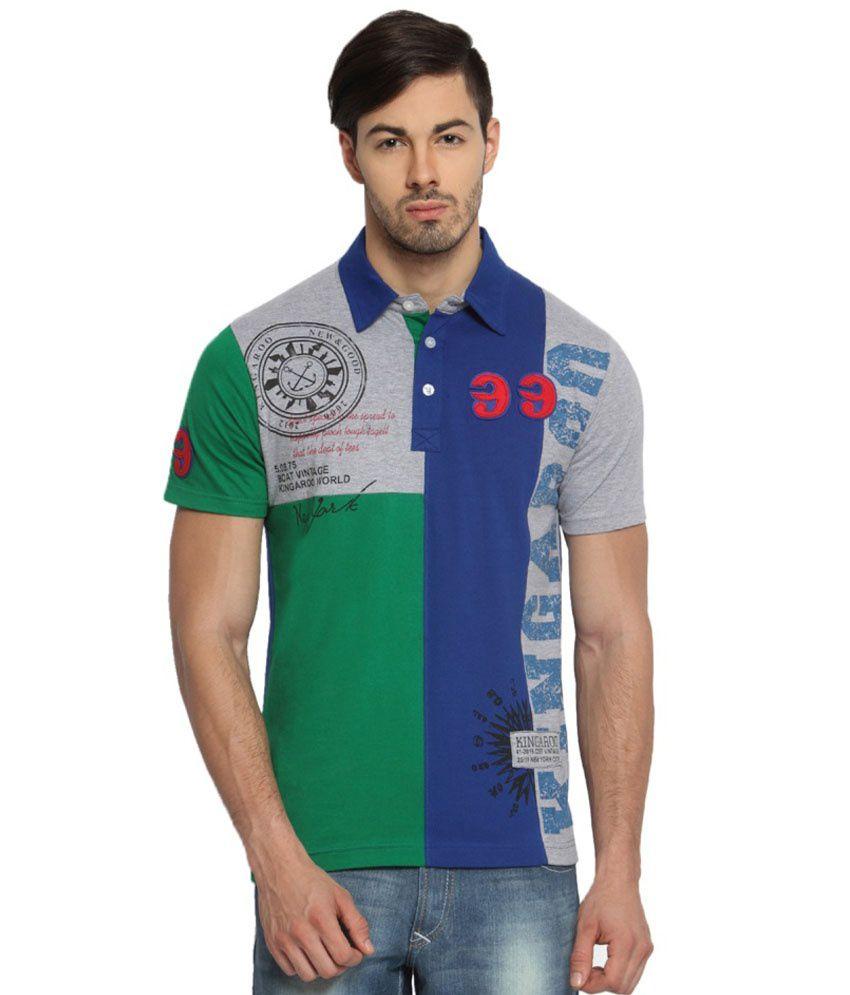 Kingaroo Printed Men's Polo Neck T-Shirt