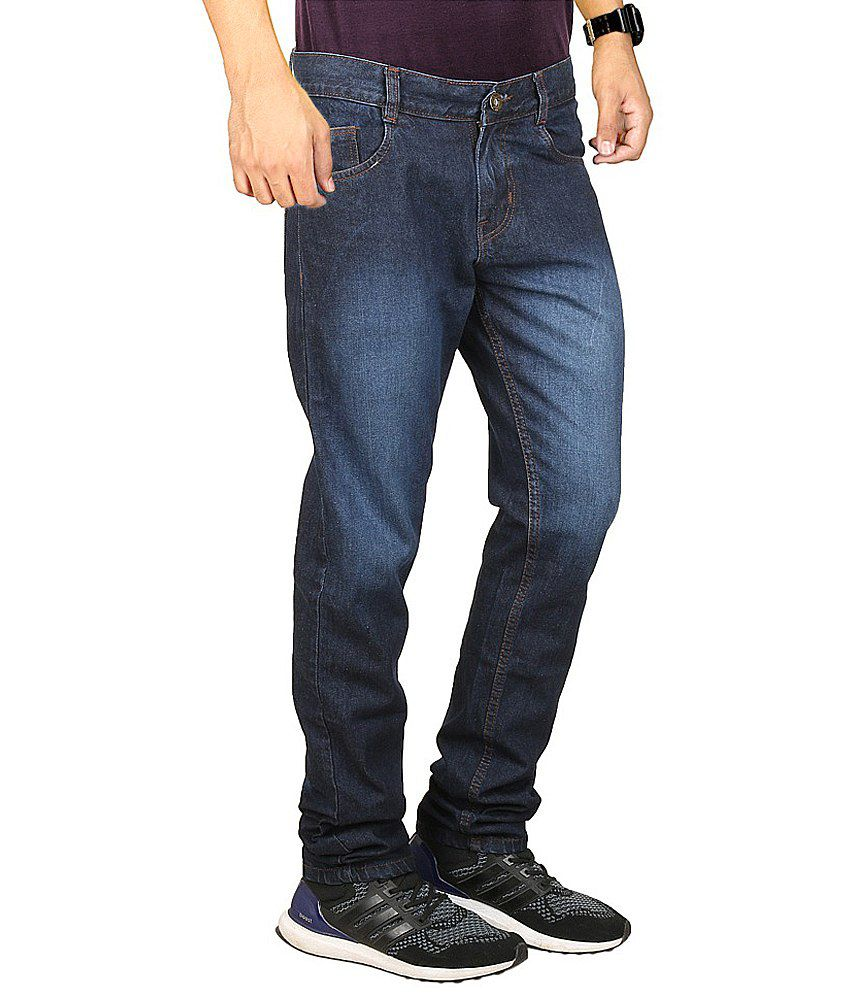 Masterly Weft Navy Regular Fit Jeans
