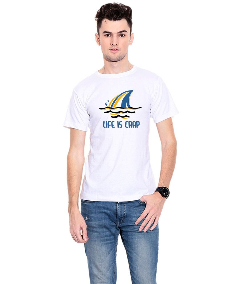Fabivo White 100 Percent Cotton T-Shirt