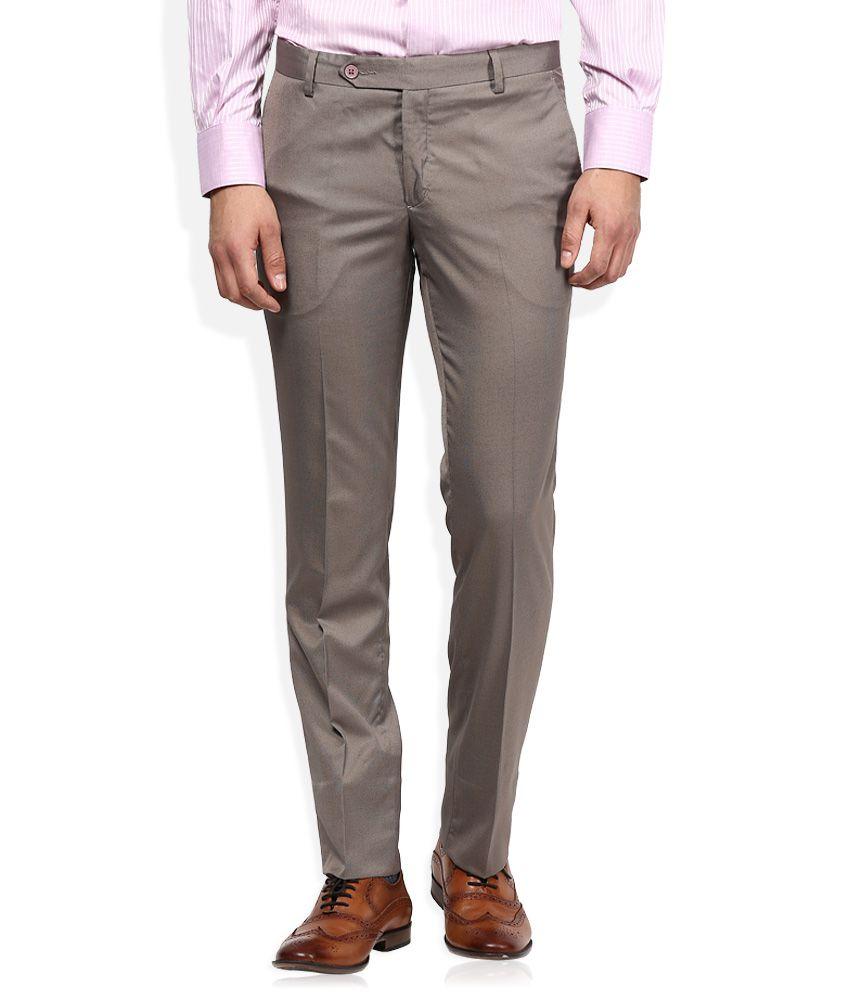 John Players Brown Formal Trouser