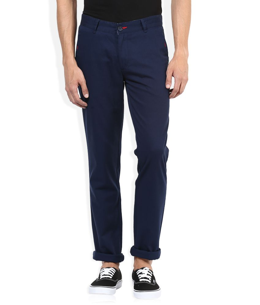 John Players Blue Casual Trouser