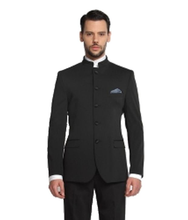 SUITLTD  Black Solid Tailored Fit Suit