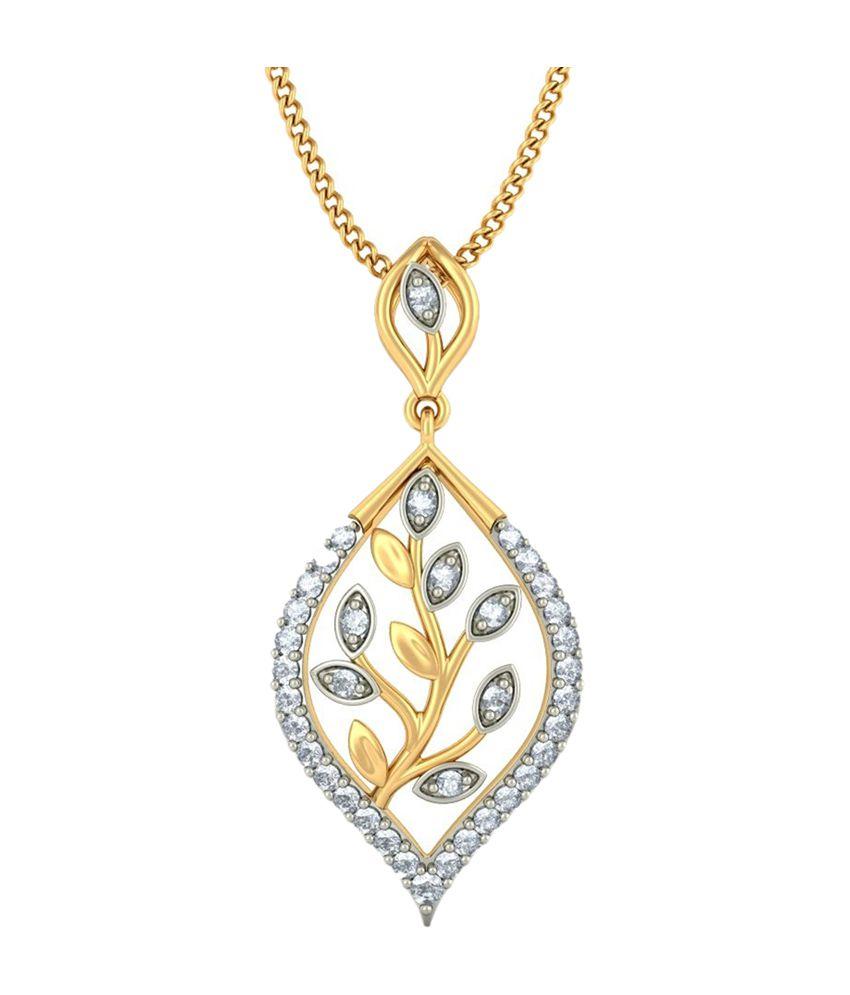 Bluestone 18kt yellow gold diamond imaginative leaves pendant buy bluestone 18kt yellow gold diamond imaginative leaves pendant aloadofball Image collections