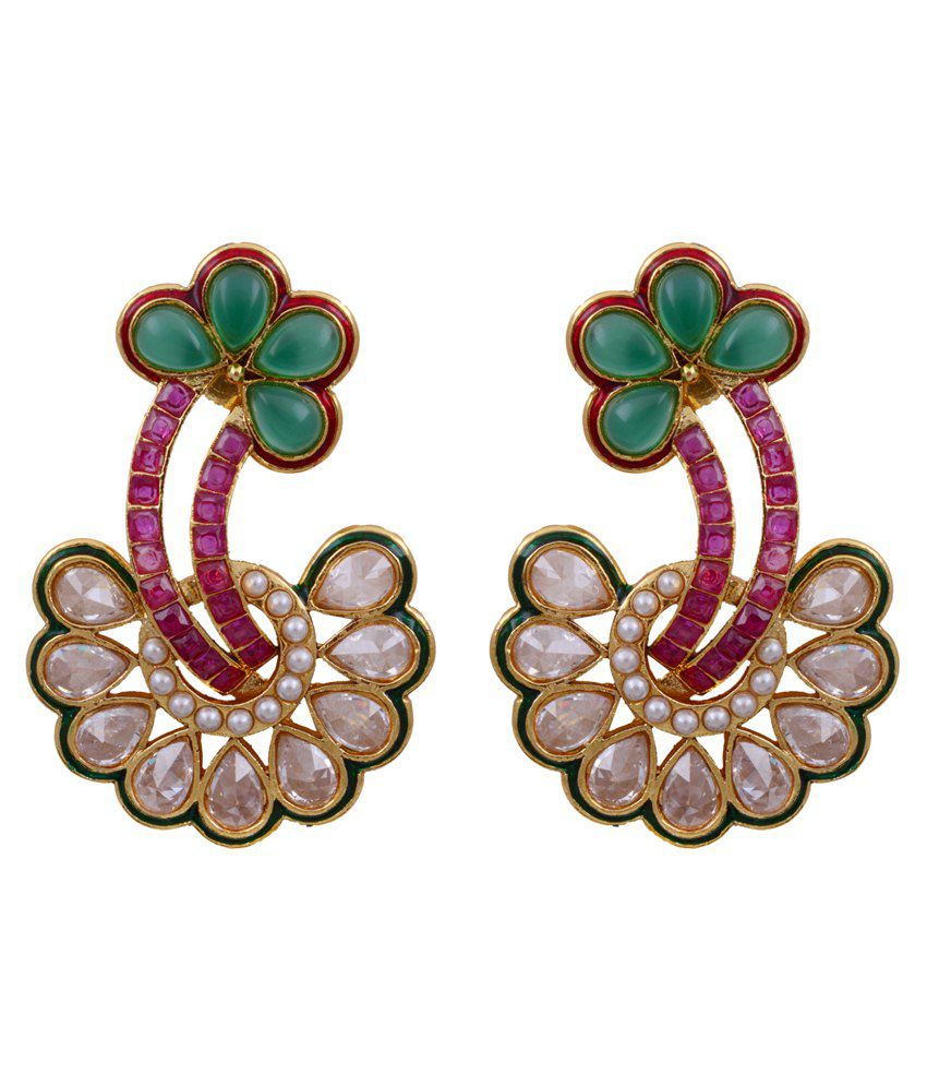 Pitti Jewels&Pearls Multicolour Copper Hanging Earring
