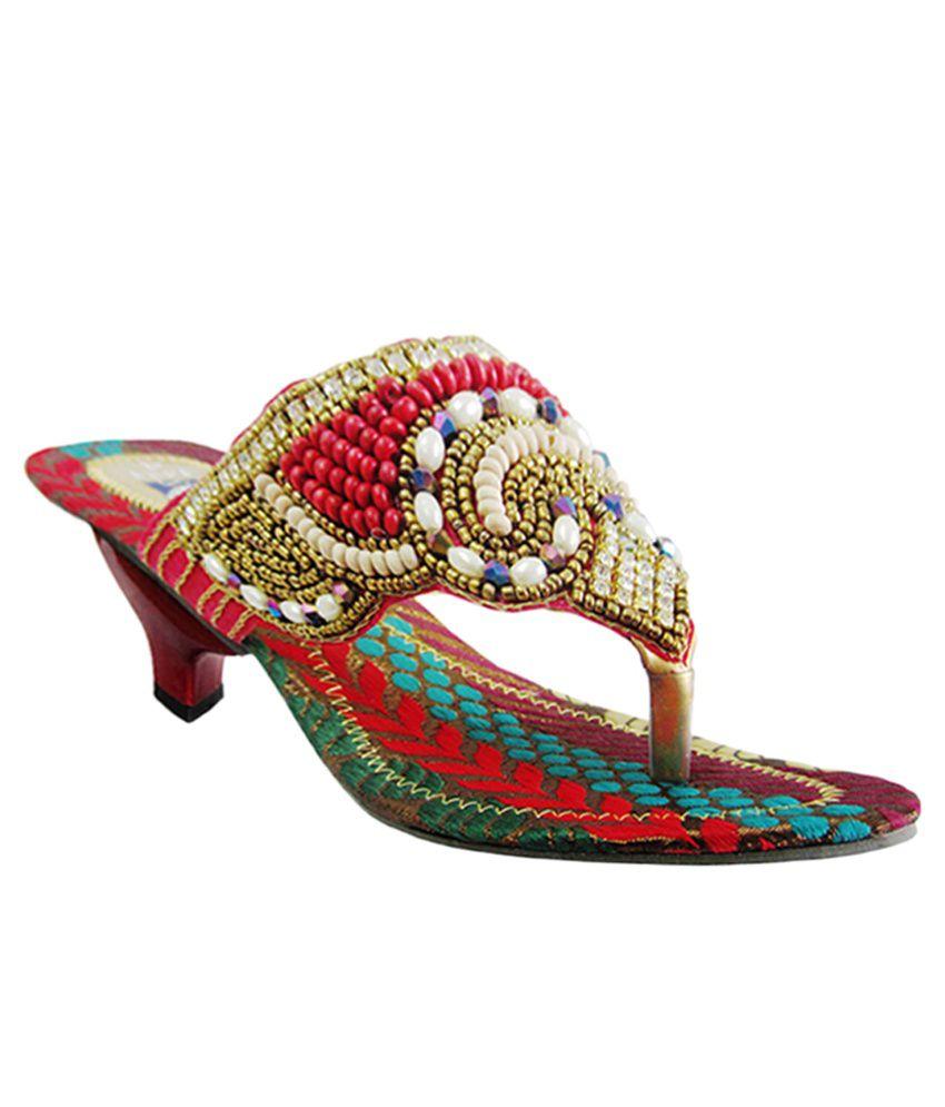 Springfields Multicolour Low Heel Sandals