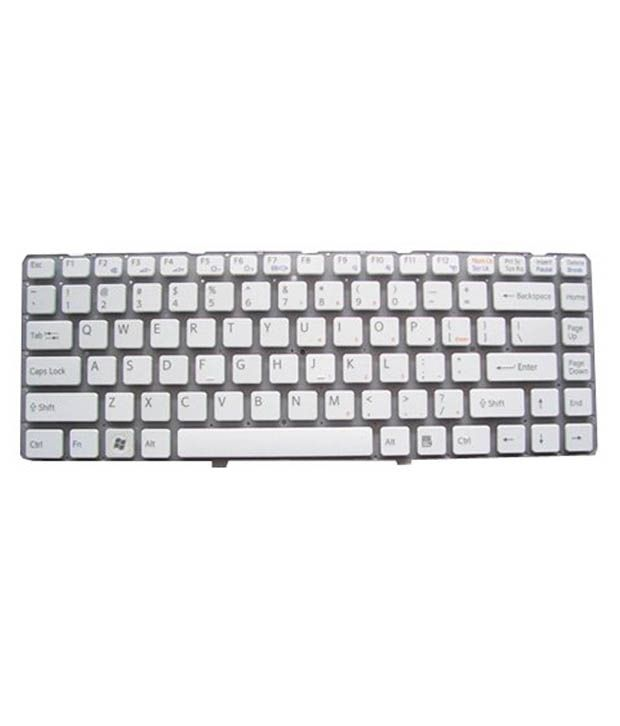 4D sony-ea-series White Wireless Replacement Laptop Keyboard Keyboard