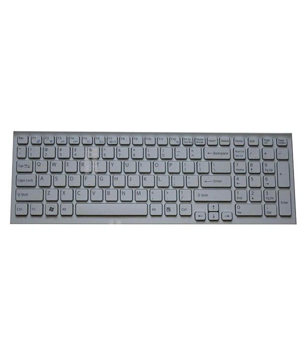 4D sony-el-white White Wireless Replacement Laptop Keyboard Keyboard