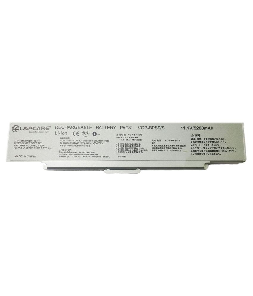 Lapcare Laptop Battery for Sony VAIO VGN-CR60B/L With Free Actone Mobile Charging Data Cable