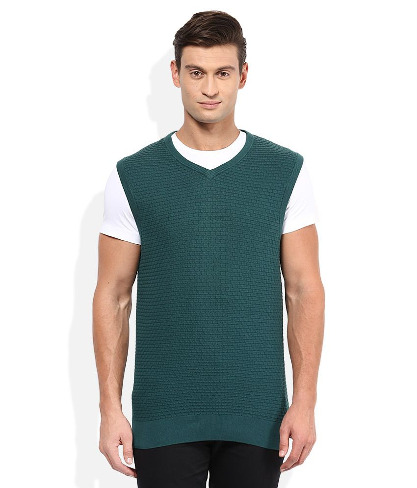 c44c1ccd2ff Tommy Hilfiger Green V-Neck Sweater - Buy Tommy Hilfiger Green V-Neck Sweater  Online at Best Prices in India on Snapdeal