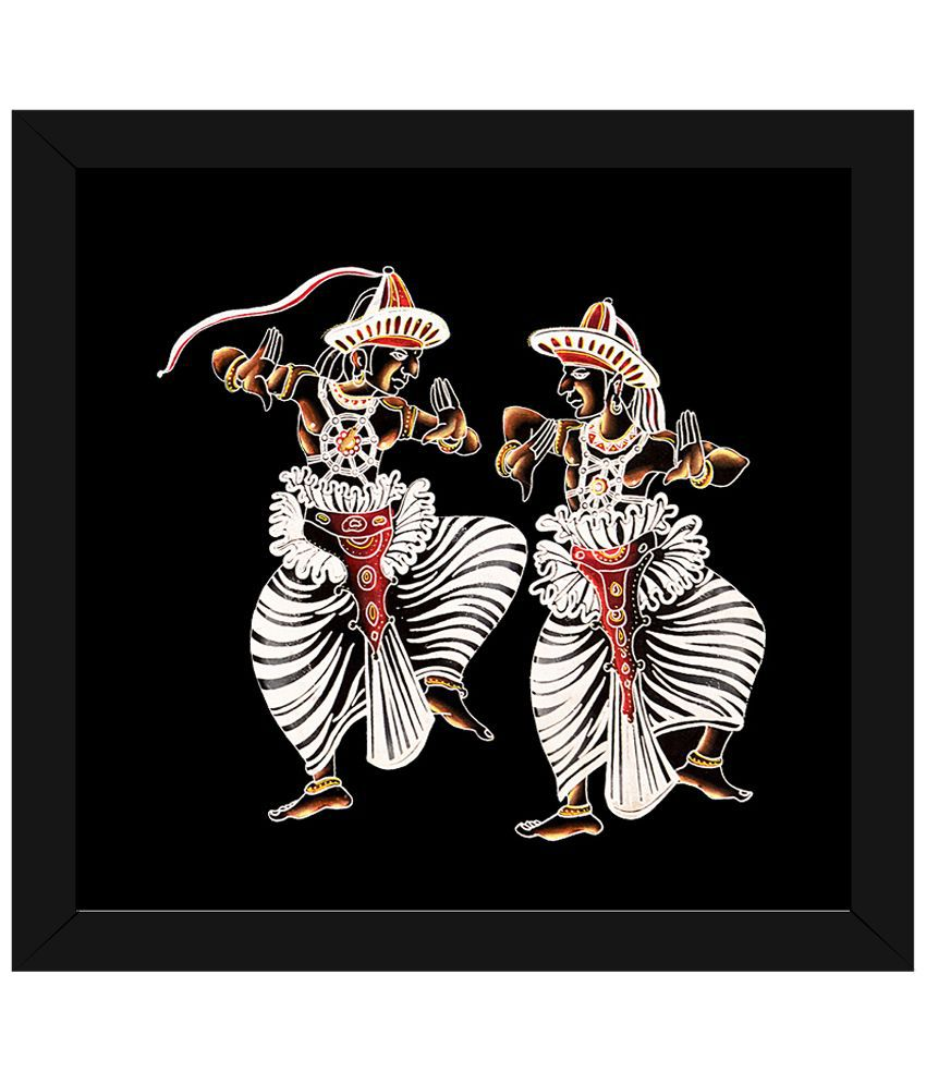 Wow Interiors and Decors White & Brown Kandy Esala Perahera Wooden Framed Painting