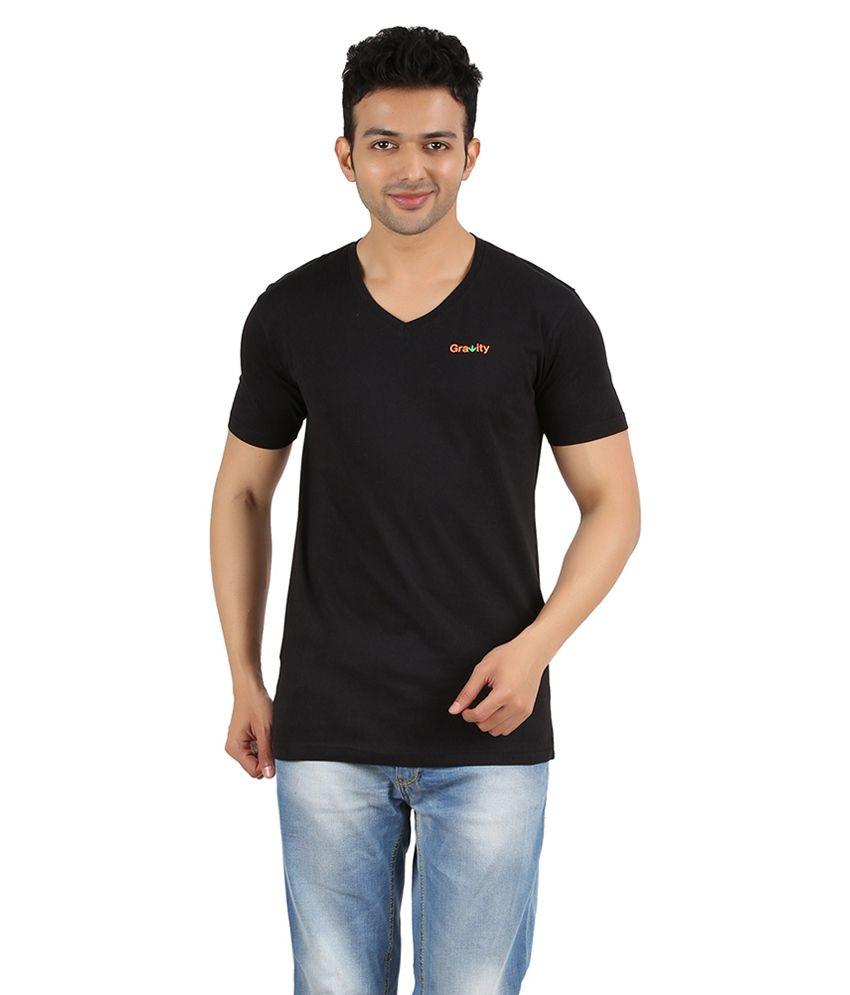 Gravity Plus Black Cotton T-Shirt