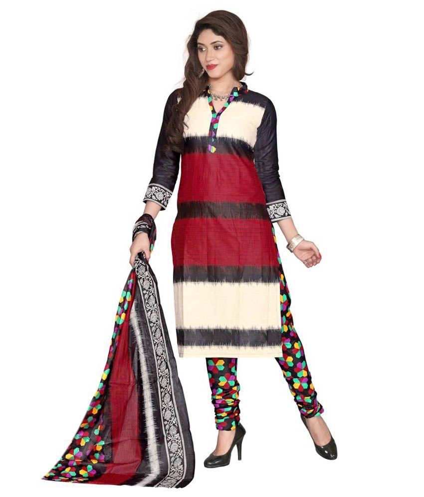 Muta Multi Color Cotton Unstitched Dress Material