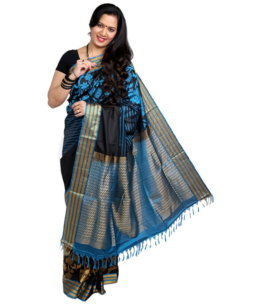 c671cf8cd72a4 Co-optex Blue and Grey   Blue Coimbatore Soft Silk Saree with Blouse Piece  - Buy Co-optex Blue and Grey   Blue Coimbatore Soft Silk Saree with Blouse  Piece ...
