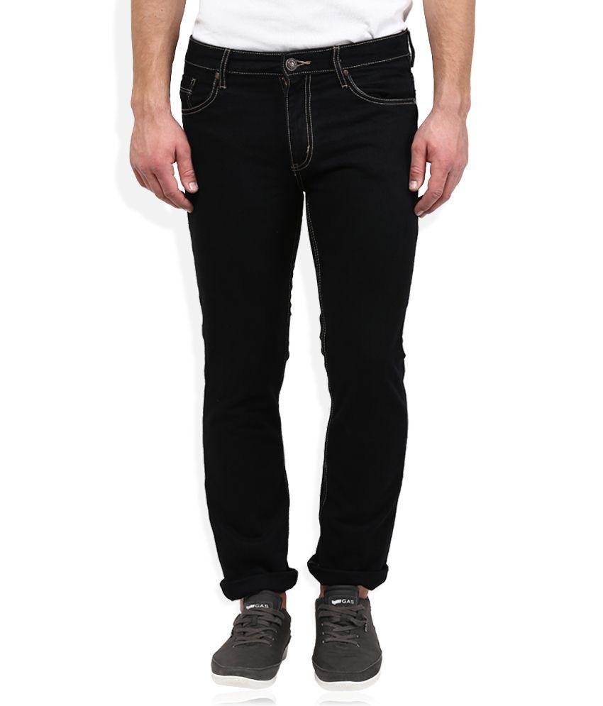 Crus Lee Black Regular Fit Jeans