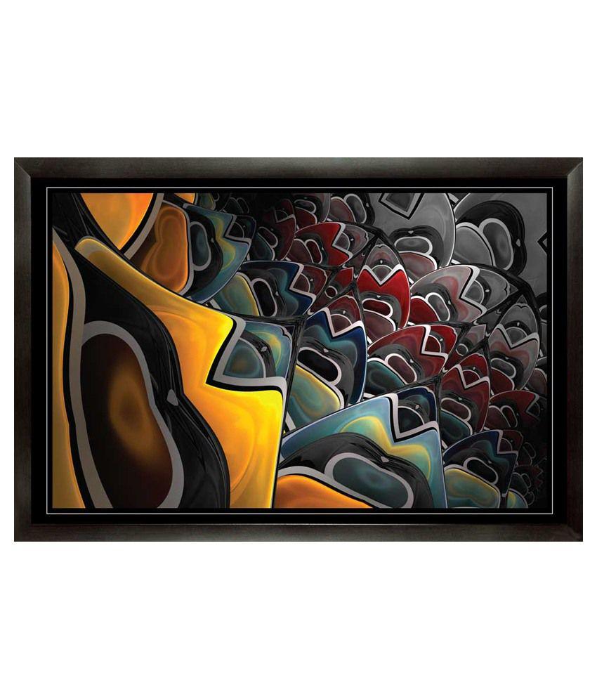 Mataye Graphics Modern Art with Frame