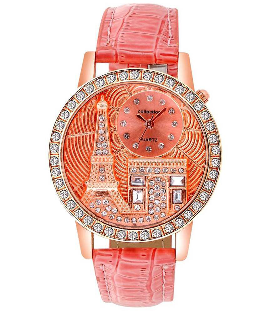 Sooms Pink Round Dial Analog Watch