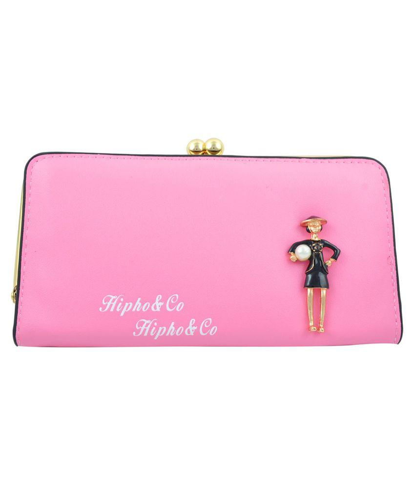 Fashion Waves India Designer Pink Long Wallet