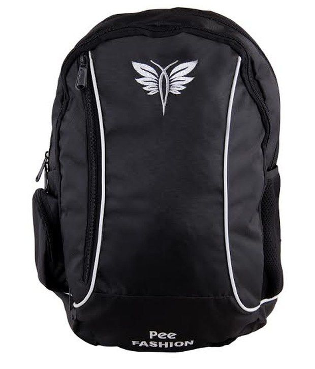Pee Fashion Laptop Compatibility Black Polyester Backpack