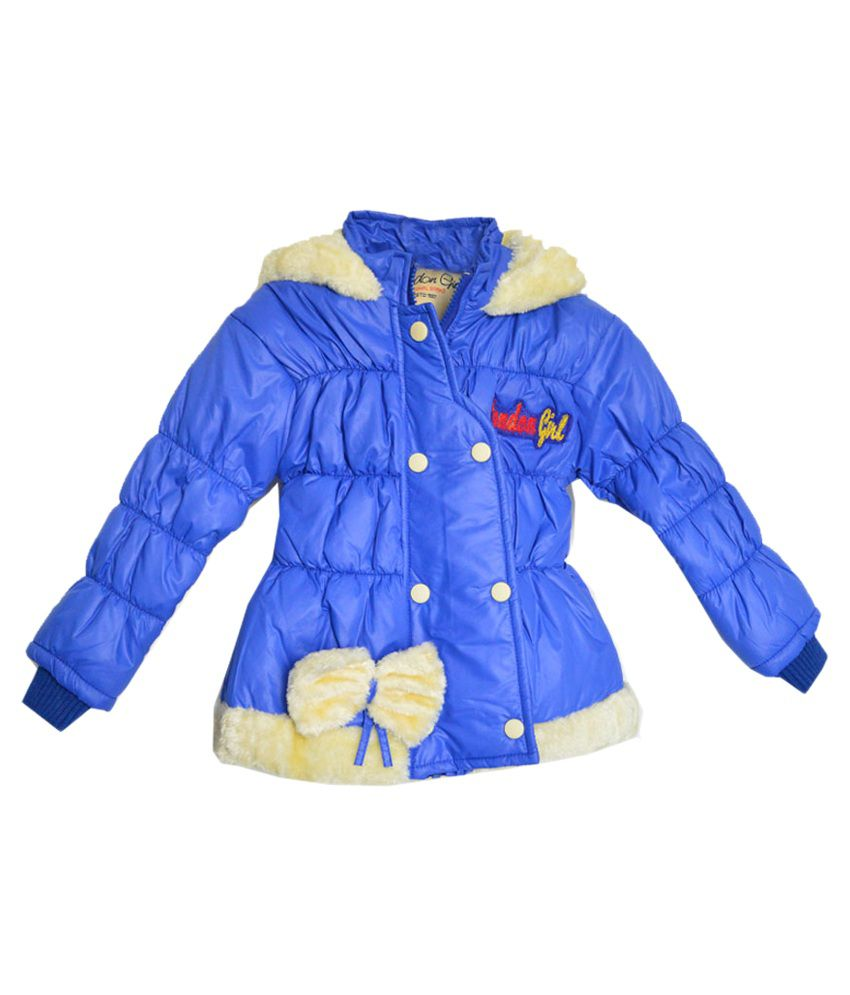 London Girl Blue Hooded Jacket for Little Princess