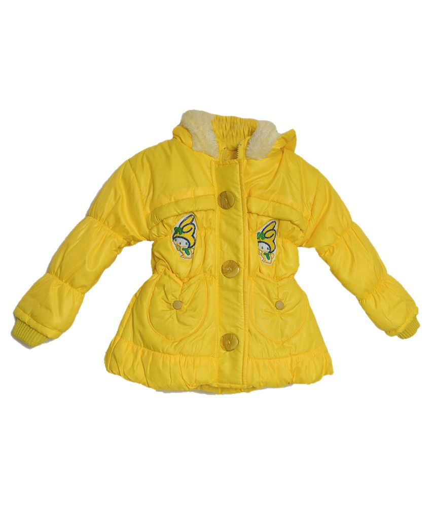London Girl Yellow Hooded Jacket for Little Angel