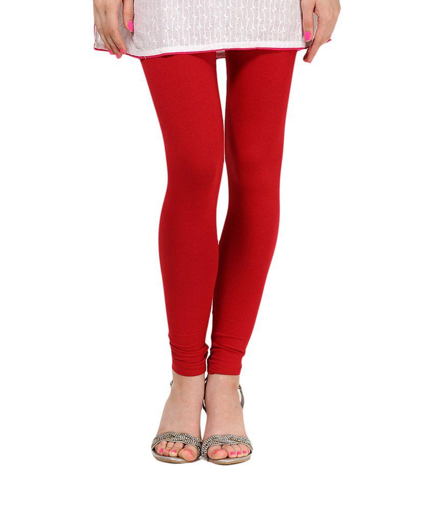 fa5a3106aab7cb Namo Red Viscose Leggings Price in India - Buy Namo Red Viscose Leggings  Online at Snapdeal