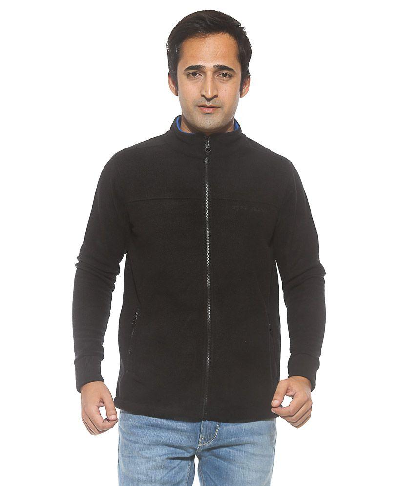 Pepe Jeans Black Full Sleeves Cotton Winter Jacket