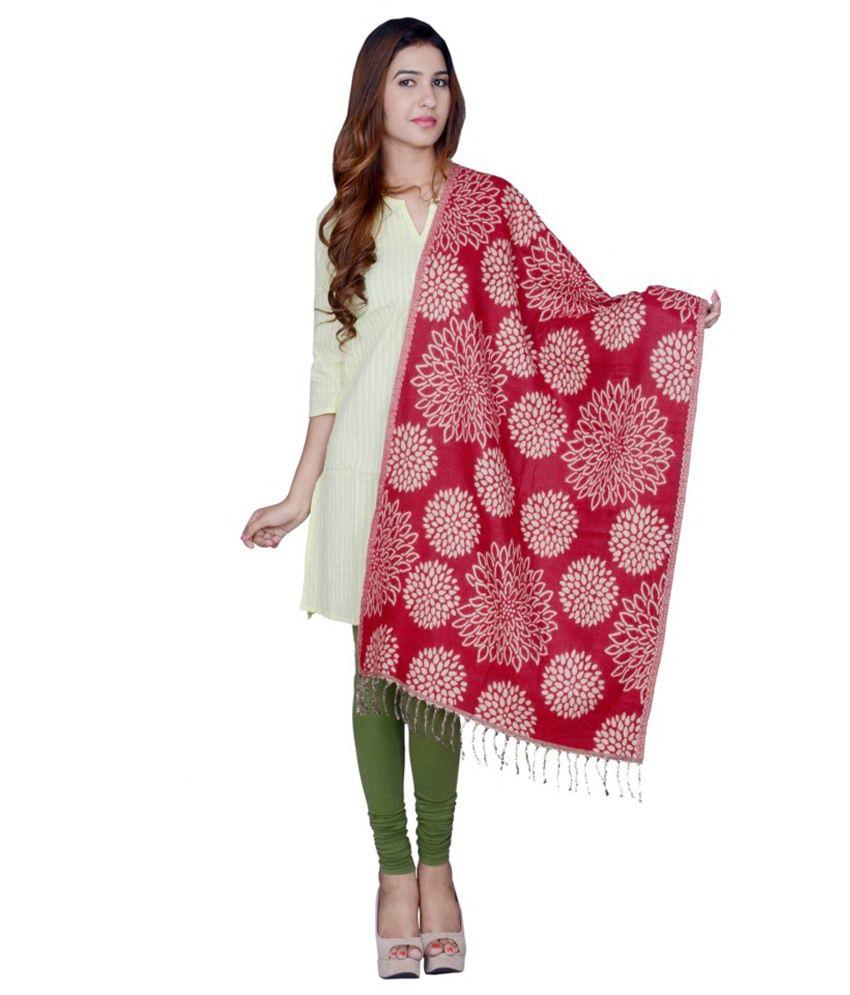 Rama Red Woollen Shawls