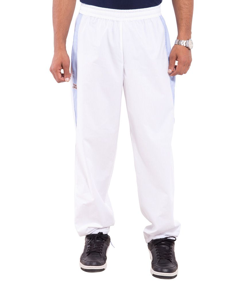 Tam Creatio White Cotton Yoga Trackpant
