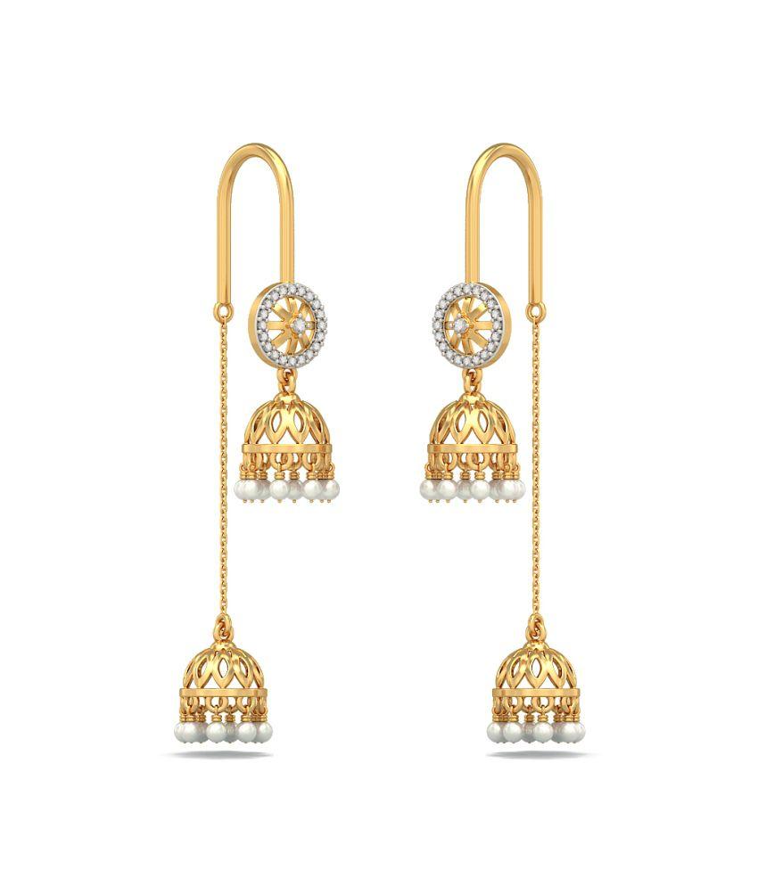 Bluestone 18kt Yellow Gold Diamond & Pearl Embellished Radiance Earrings