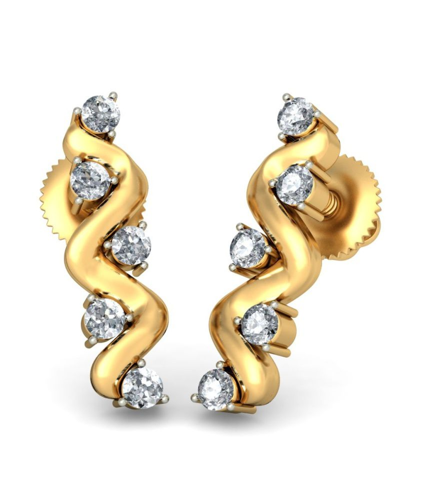 BlueStone 18kt Yellow Gold Diamond Agnes Earrings