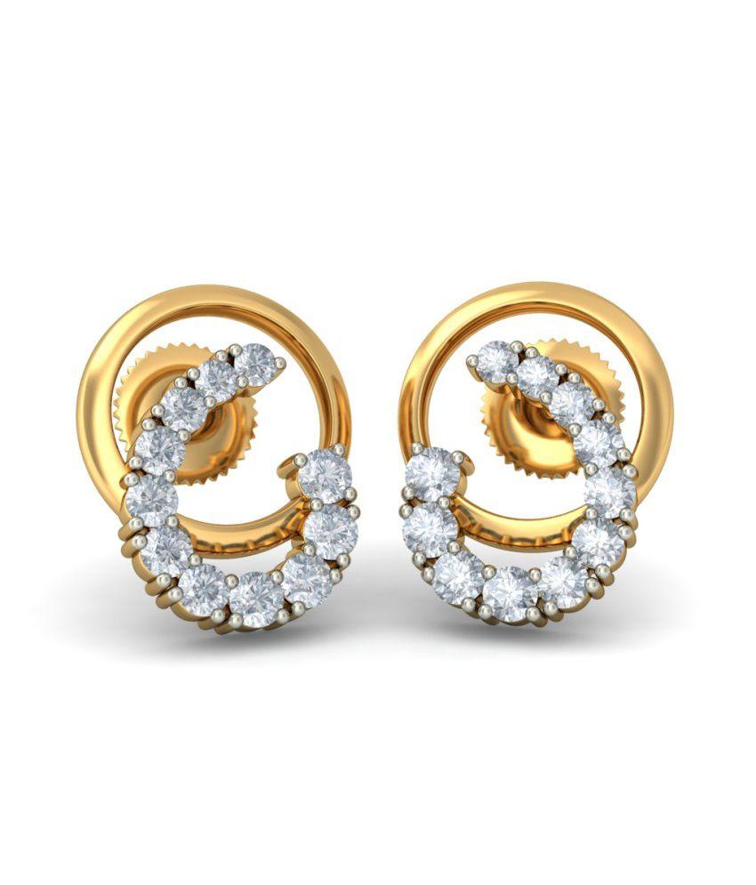 f2d2ffd78 BlueStone 18kt Yellow Gold Diamond Wondrous Journey Earrings: Buy BlueStone  18kt Yellow Gold Diamond Wondrous Journey Earrings Online in India on  Snapdeal