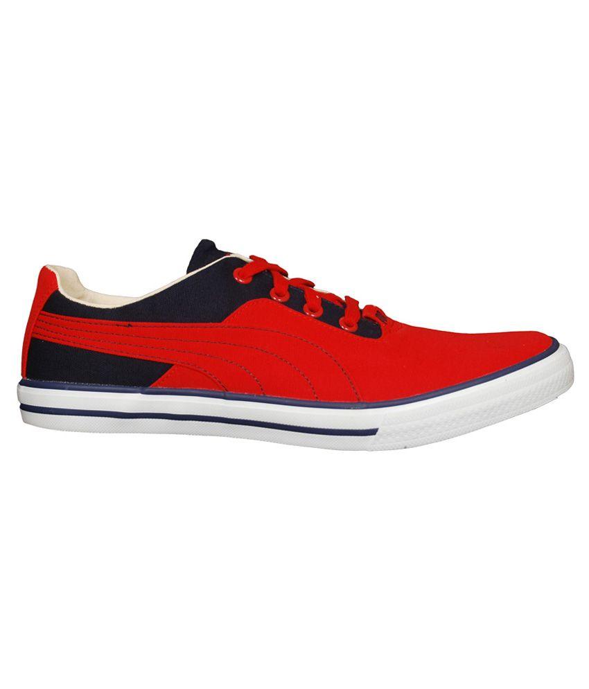 Puma Red Canvas Shoes - Buy Puma Red Canvas Shoes Online at Best ... fcf69626f