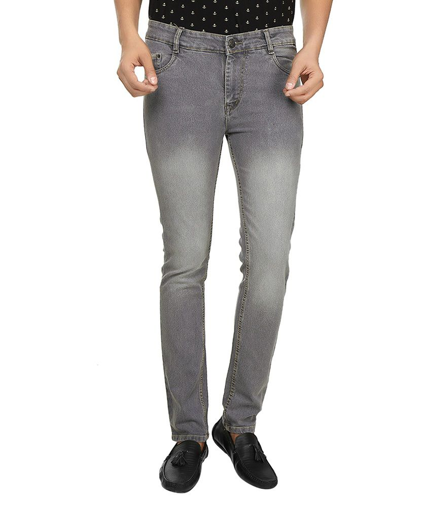 Fashion Flag Grey Slim Fit Jeans