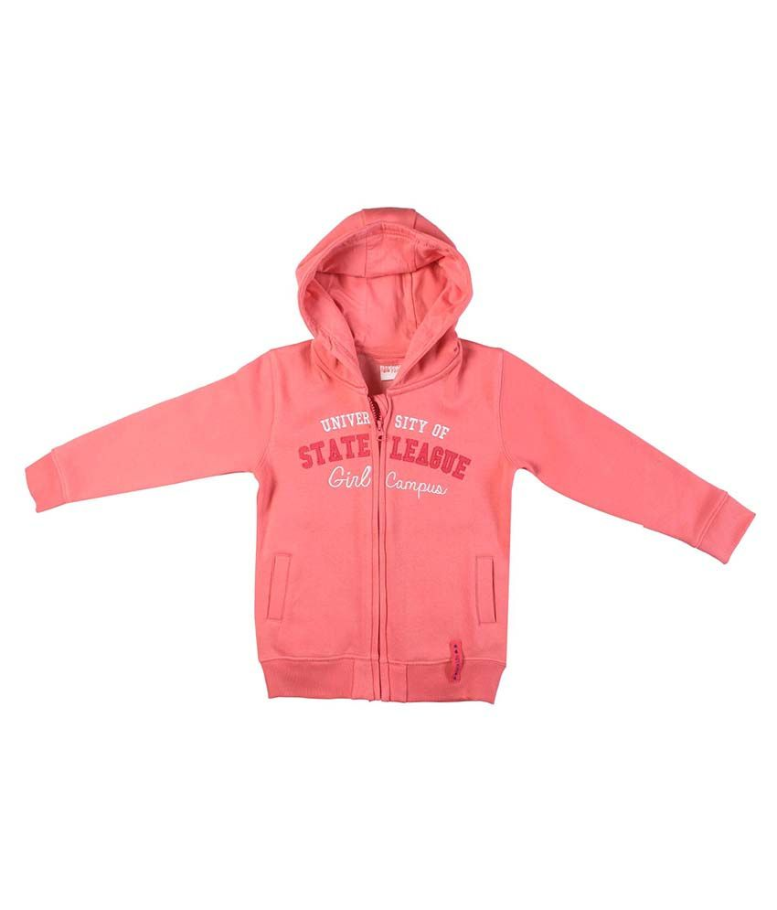 FS MiniKlub Pink Hooded Zippered Sweatshirt
