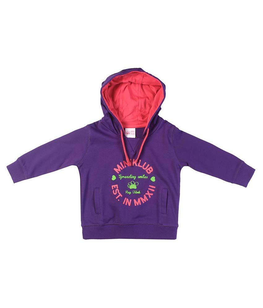 FS MiniKlub Purple Hooded Sweatshirt