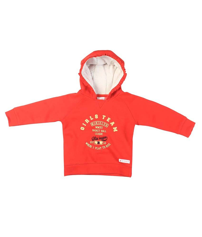FS MiniKlub Red Hooded Sweatshirt
