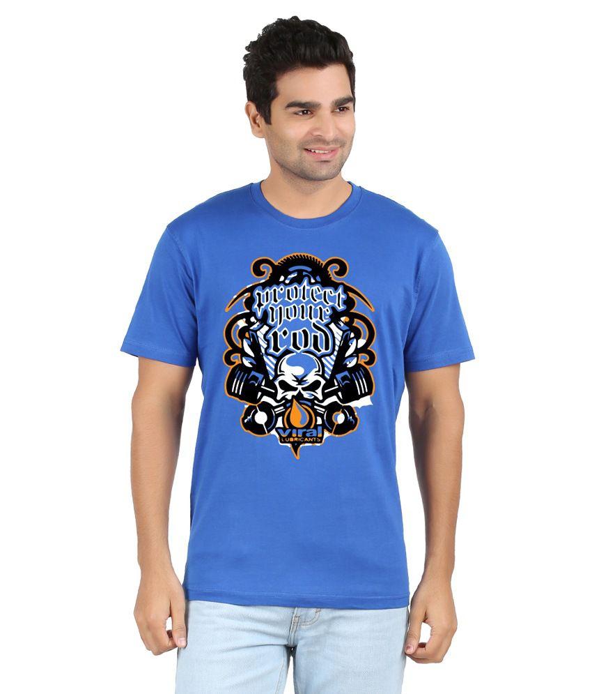 RVB Blue Cotton T Shirt