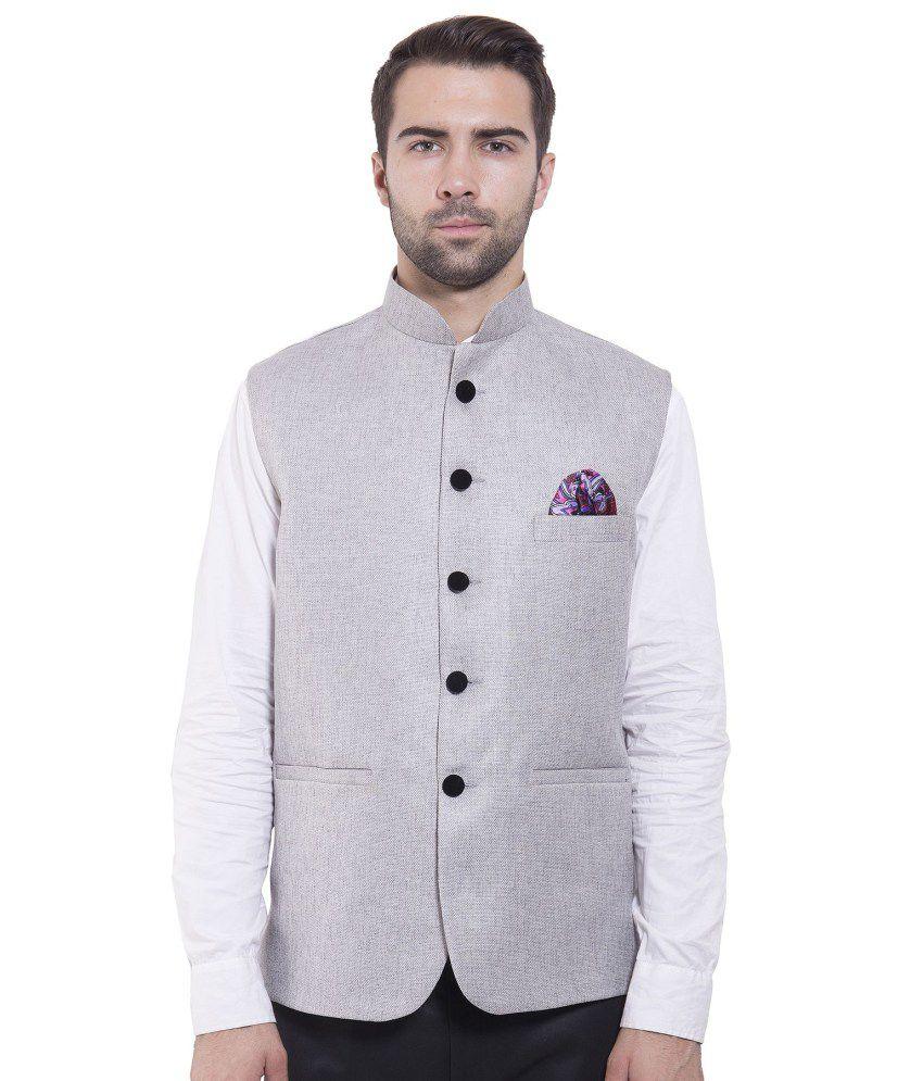 Wintage Grey festive Waistcoats