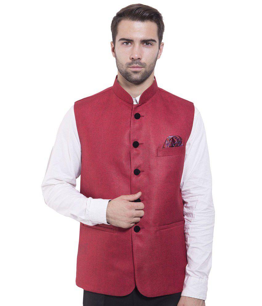 Wintage Red festive Waistcoats